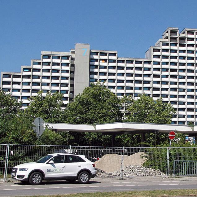 Oberwiesenfeld Hochhaus Studentenwohnanalge